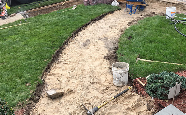 New masonry walkway Project